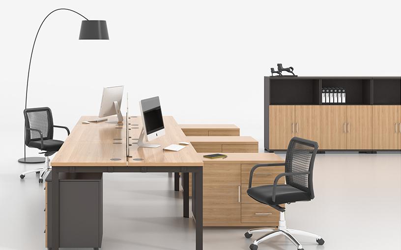 U型-钢木结合桌上屏风